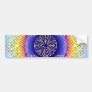 Chartres Labyrinth Light Paths Bumper Sticker