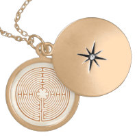 Chartres Labyrinth Locket Necklace