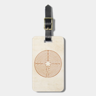 Chartres Labyrinth Luggage Tag