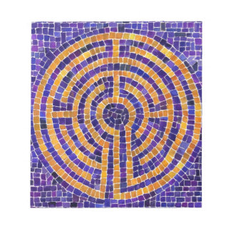 """Chartres Labyrinth  Mosaic 5.5"""" x 6"""" Notebook Notepad"""