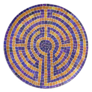 Chartres Labyrinth Mosaic Melamine Plate