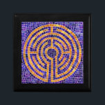 """Chartres Labyrinth Mosaic Sm Gift Box w/ Tile Lid<br><div class=""""desc"""">This design is a simplified version of the labyrinth at Chartres Cathedral in France. There is a sister version at Grace Cathedral in San Francisco. People walk the labyrinth in meditation,  for spiritual reflection.</div>"""
