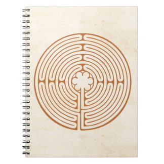 Chartres Labyrinth Spiral Note Book