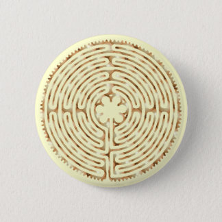 Chartres Labyrinth Pearl Button