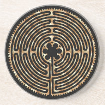 Chartres Labyrinth Pearl Coaster