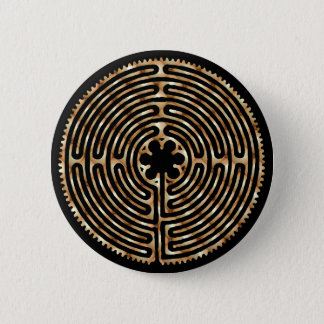 Chartres Labyrinth Pearl Dark Paths Button