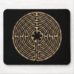 Chartres Labyrinth Pearl Dark Paths Mousepad