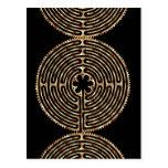Chartres Labyrinth Pearl Dark Paths Postcard
