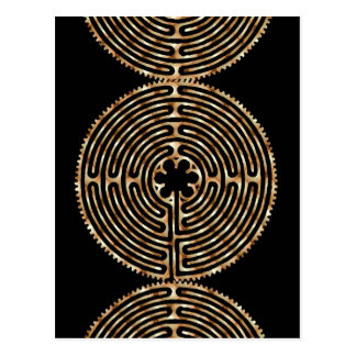 Chartres Labyrinth Pearl Dark Paths Postcard