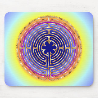 Chartres Labyrinth Pearl Light Paths Mousepad