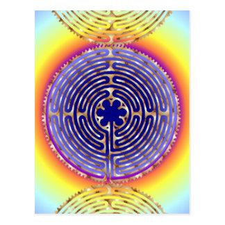 Chartres Labyrinth Pearl Light Paths Postcard