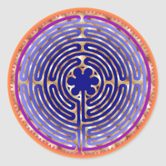Chartres Labyrinth Pearl Light Paths Sticker