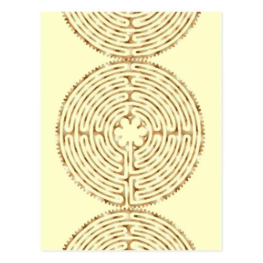 Chartres Labyrinth Pearl Postcard