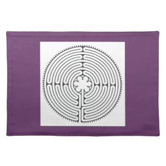 Chartres labyrinth placemat finger labyrinth cloth