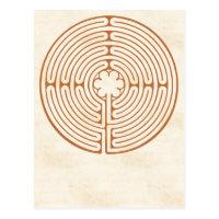 Chartres Labyrinth Postcard