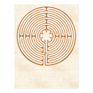 Chartres Labyrinth Postcard