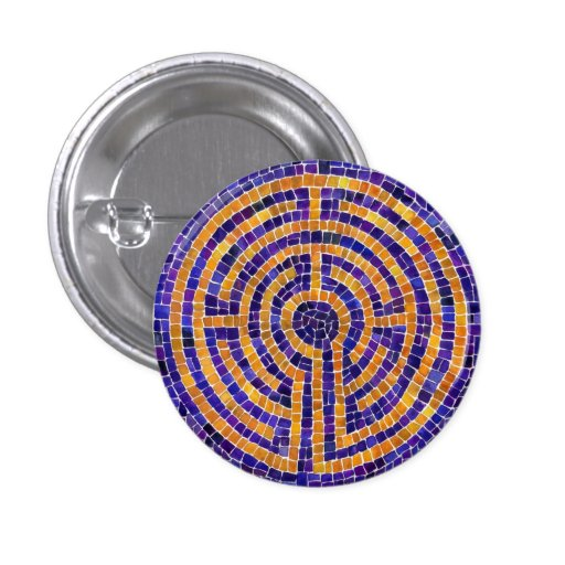 "Chartres Mosaic 1.25"" Round Button"