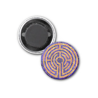 "Chartres Mosaic 1.25"" Round Magnet"