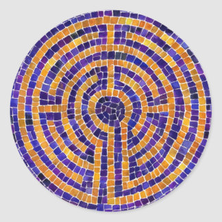 """Chartres Mosaic 3"""" Round Stickers (6)"""