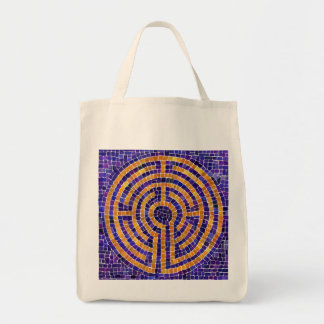 Chartres Mosaic Natural Grocery Tote