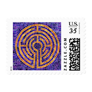 Chartres Mosaic Postcard Stamps