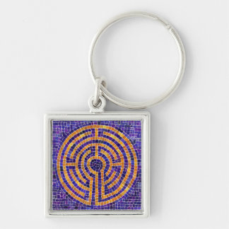 Chartres Mosaic Small Premium Square Keychain