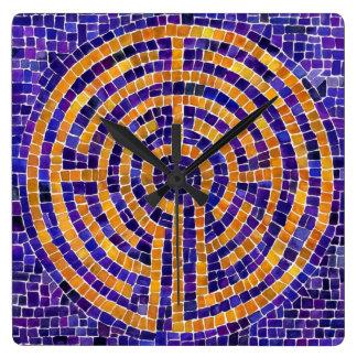 Chartres Mosaic Square Wall Clock