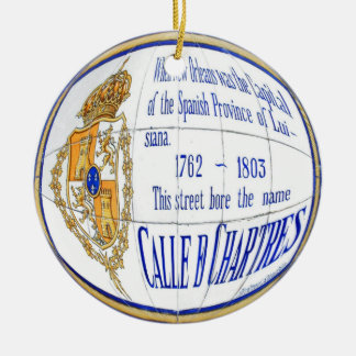 Chartres Tile Round Double-Sided Ceramic Round Christmas Ornament