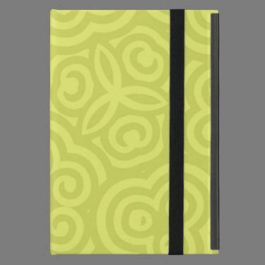 Chartreuse abstract pattern. iPad mini case