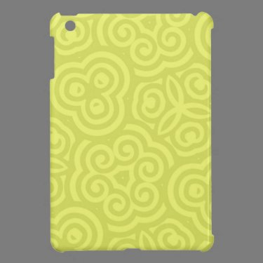 Chartreuse abstract pattern. iPad mini covers