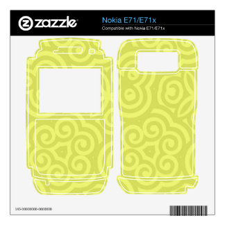 Chartreuse abstract pattern nokia e71x skin