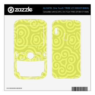 Chartreuse abstract pattern. ALCATEL tribe skins