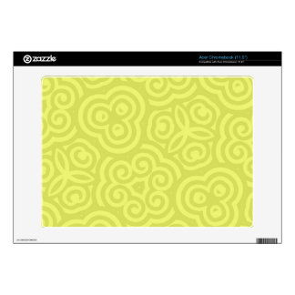 Chartreuse abstract pattern. skin for acer chromebook