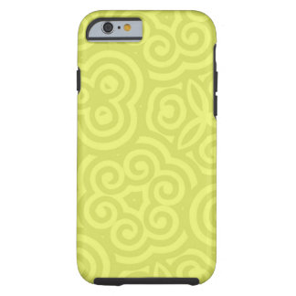 Chartreuse abstract pattern. tough iPhone 6 case
