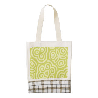 Chartreuse abstract pattern. zazzle HEART tote bag