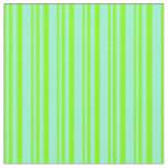 [ Thumbnail: Chartreuse and Aquamarine Colored Striped Pattern Fabric ]
