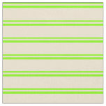 [ Thumbnail: Chartreuse and Beige Colored Lines Pattern Fabric ]