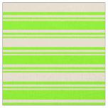 [ Thumbnail: Chartreuse and Beige Lined/Striped Pattern Fabric ]