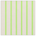 [ Thumbnail: Chartreuse and Bisque Stripes/Lines Pattern Fabric ]