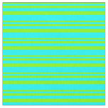 [ Thumbnail: Chartreuse and Cyan Lines Pattern Fabric ]