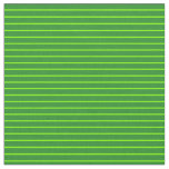 [ Thumbnail: Chartreuse and Forest Green Colored Lines Fabric ]