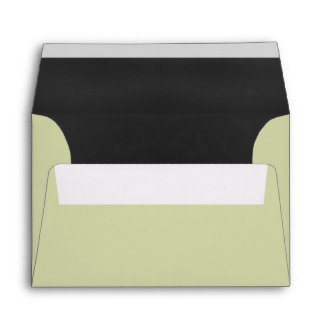 Chartreuse And Gray Special Occasion Custom Envelope