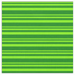 [ Thumbnail: Chartreuse and Green Colored Lines Pattern Fabric ]