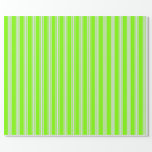 [ Thumbnail: Chartreuse and Lavender Striped/Lined Pattern Wrapping Paper ]