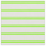 [ Thumbnail: Chartreuse and Mint Cream Lined/Striped Pattern Fabric ]