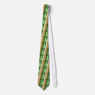 Chartreuse and Squares of Many Colors Scarf Tie