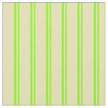 [ Thumbnail: Chartreuse and Tan Colored Lined Pattern Fabric ]