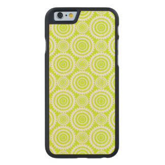 Chartreuse and White Geometric Pattern Carved® Maple iPhone 6 Slim Case
