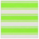 [ Thumbnail: Chartreuse and White Lines Pattern Fabric ]