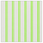 [ Thumbnail: Chartreuse and White Lines/Stripes Pattern Fabric ]